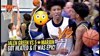 Jalen Green GOES AT IT w/ 5 Star Marjon Beuachamp & It Got HEATED!! Jalen SAVAGE BODY BAG DUNK!!