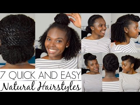 7 QUICK AND EASY Hairstyles For Natural Hair