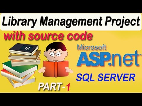 Library Management System Project with code in  ASP.NET C#  PART-1