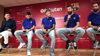 Barcelona Rakuten Presser - Gerard Pique