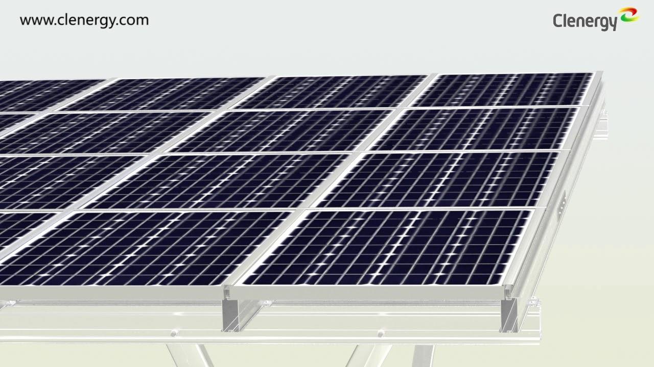 Install Pv Ezrack Ezshade With Dry Bar For Solar Carport Youtube