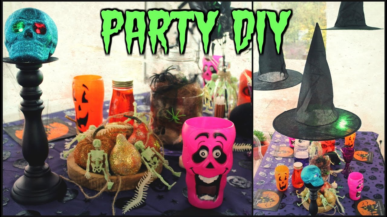 diy halloween party deko sehr g nstig funnypilgrim youtube. Black Bedroom Furniture Sets. Home Design Ideas