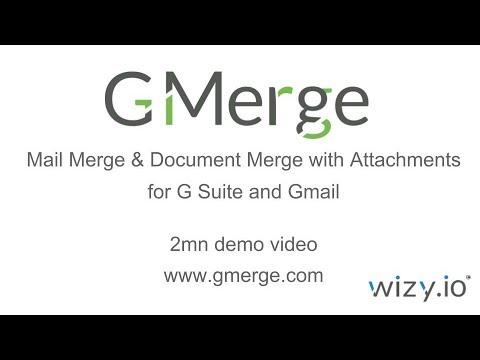 G Merge - Mail Merge and Doc Merge With Attachments