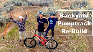 Backyard Pumptrack Re-build!