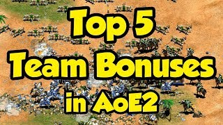 Top 5 Team Bonuses in AoE2