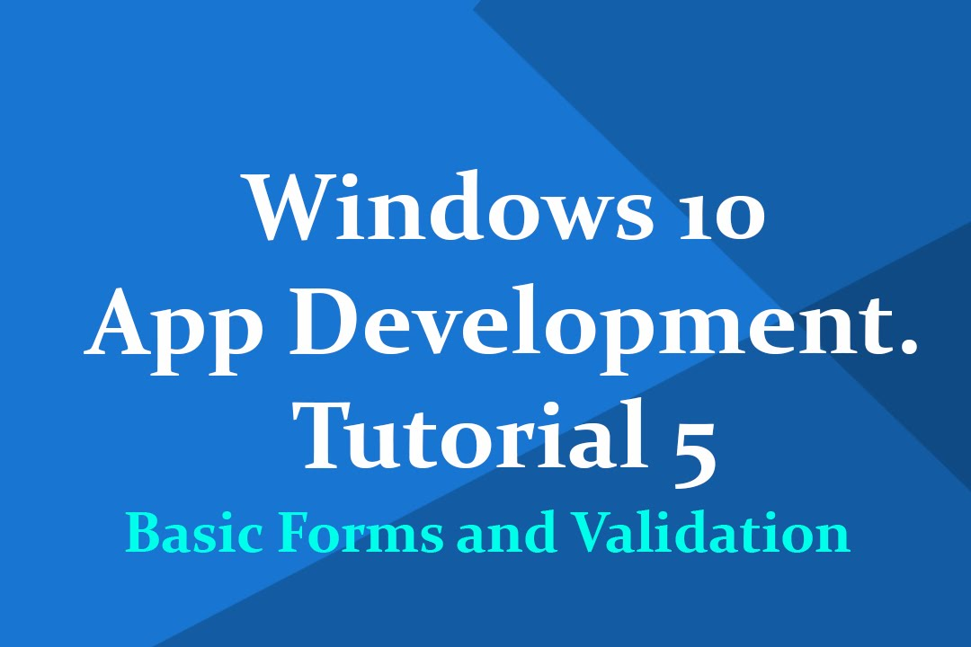 "Windows 10 universal app development""-tutorial 1: hello world."