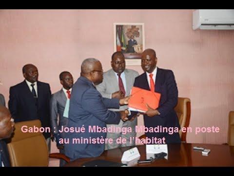 Gabon :  Josué Mbadinga Mbadinga en poste au ministère de l'habitat