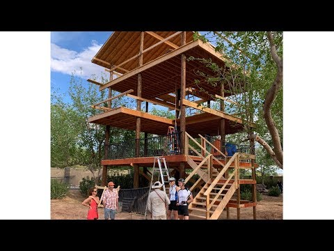 DIY 1,800 Sq Ft 3-level TreeHouse-Fort Build Saga