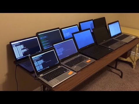 Bitcoin Mining W/ 10 Laptops MAKING BANK + How To Mine BITCOIN With A Laptop