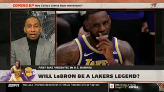 Stephen A. Smith QUESTIONABLE: Will LeBron be a Lakers legend? | First Take