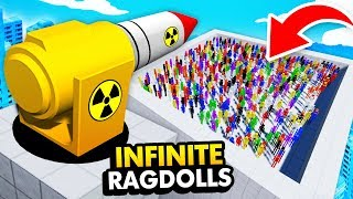 MODDED NUCLEAR CANNON vs INFINITE RAGDOLLS (Fun With Ragdolls: The Game Funny Gameplay)