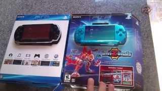 PSP 3000 Vibrant Blue (Azul brilhoso) e PSP Black Piano (Preto Piano) SemiUnboxing 2013