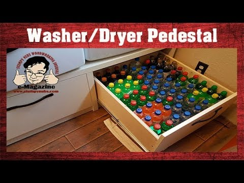 I'm Sick Of Cheap Junk! How I Made My Own Washer/dryer Pedestal.