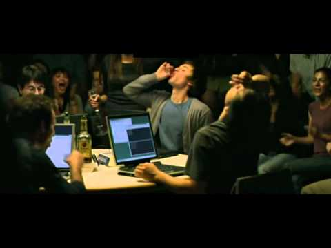 The Social Network - hacking and drinking scene