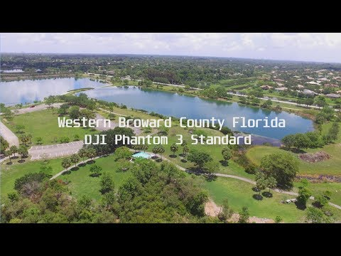 Second Flight With DJI Phantom 3 Standard Drone Over Davie, Florida.