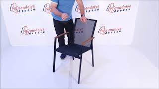 Sunny Kollu Alüminyum Dış Mekan Sandalyesi