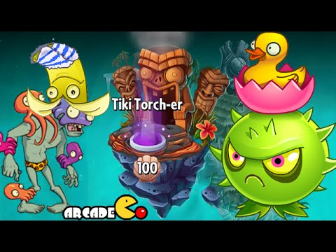 Plants Vs Zombies 2: Big Wave Beach Tiki Torch-er Level 100 Highest Level