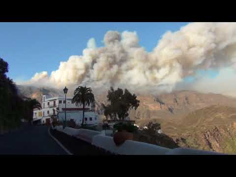Incendio en Gran Canaria visto desde Tirajana