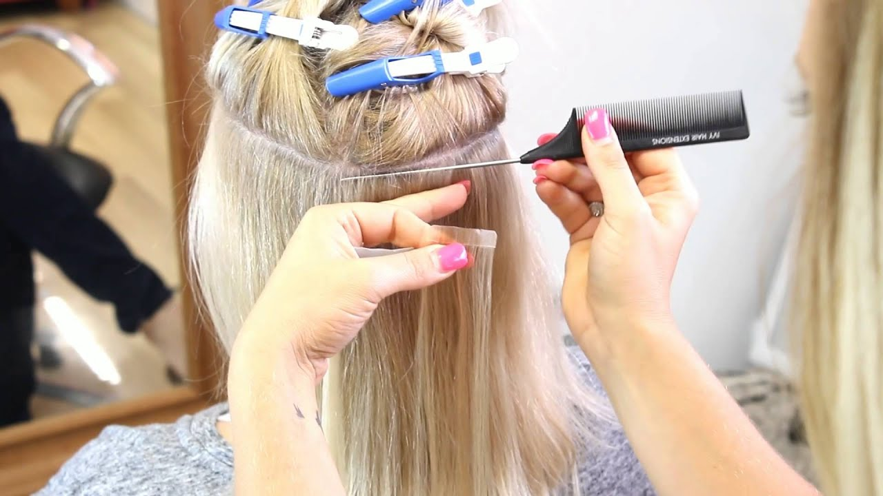 Full Head Application Ivy Tape Hair Extensions Youtube