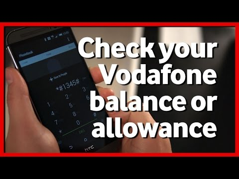how to get data balance in vodafone