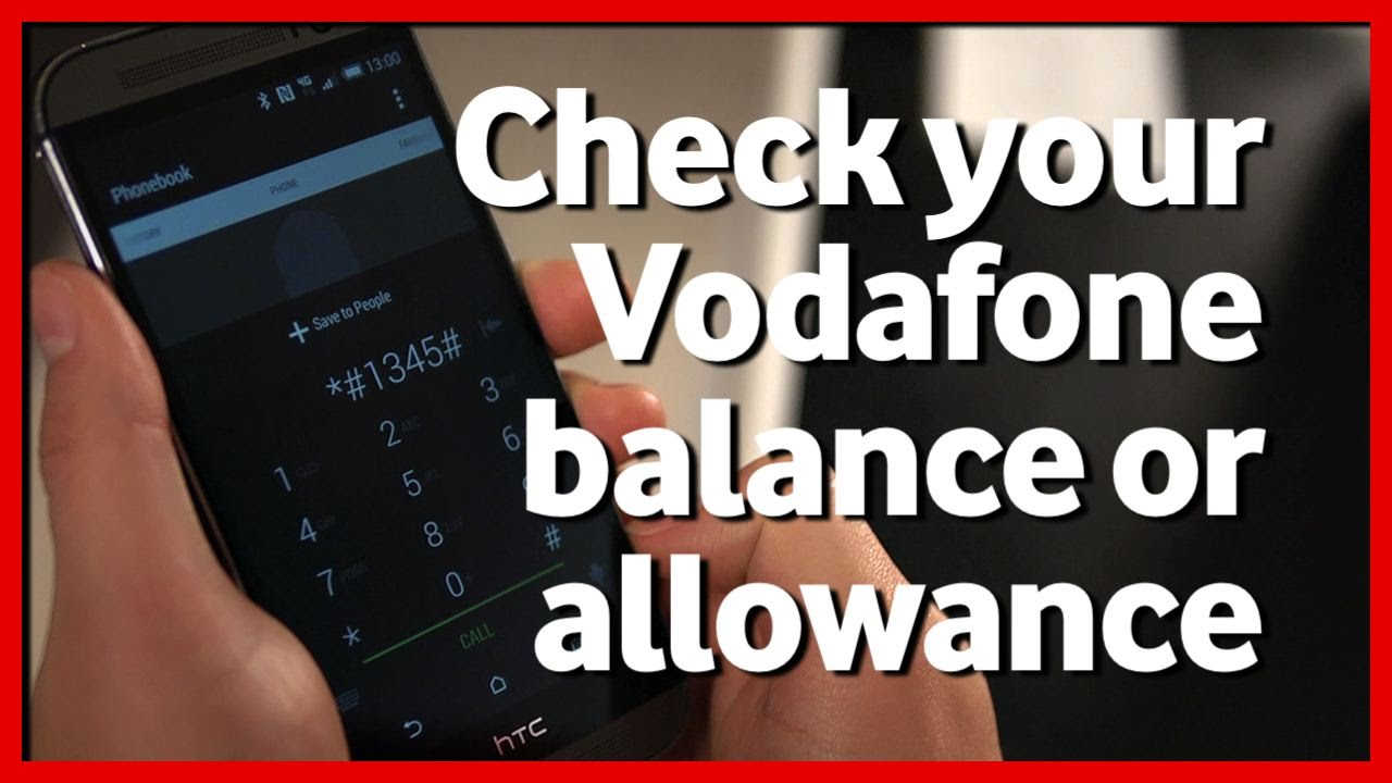 Check Vodafone Balance Or Allowances Vodafoneuk
