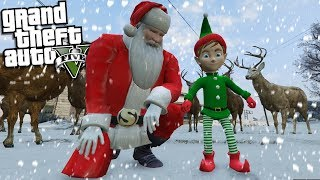 BECOMING a REAL ELF for SANTA CLAUS (GTA 5 Mods)