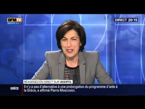 rÉaction hystÉrique de ruth elkrief aux propos de roland dumas (bfm tv 16/02 2015)