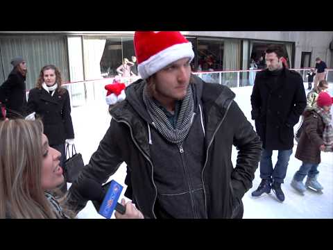 Ice Skating with Scott Michael Foster and Spencer Grammer from Greek!