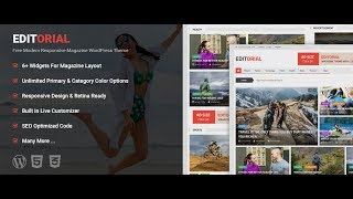 Editorial - Free Ultimate Magazine WordPress Theme
