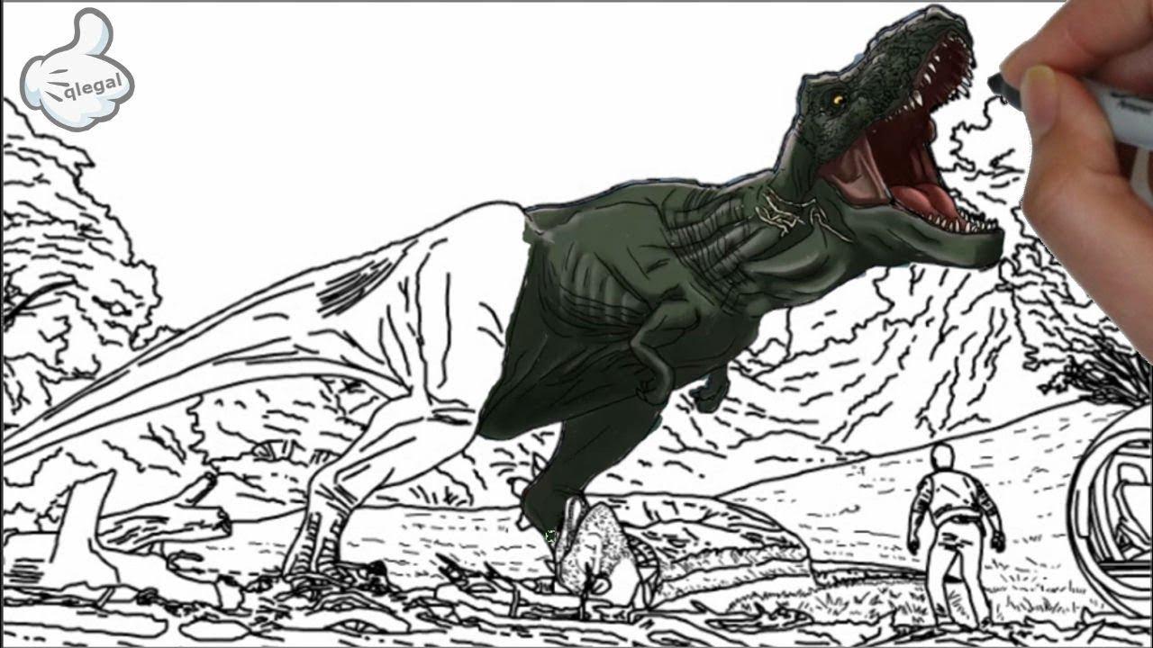 Como Desenhar E Colorir Tiranossauro Rex T Rex Youtube