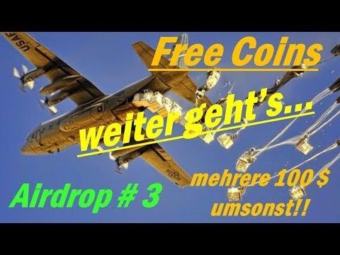 Airdrop - Free Coins #3 [deutsch] - Free Money einsacken - Free Crypto Coins - Airdrop ERC-20 Wallet