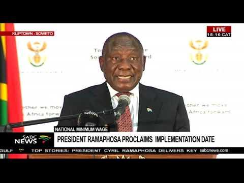 President Cyril Ramaphosa National Minimum wage speech
