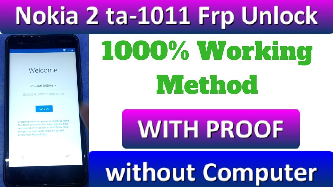 NOKIA 2 Frp 100% Remove TA 1011 Without Computer