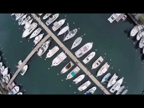 Honokohau marina & small boat harbor in Kailua Kona on the Big Island of Hawaii