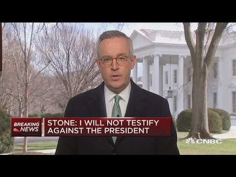 Roger Stone: Won't testify against President Trump