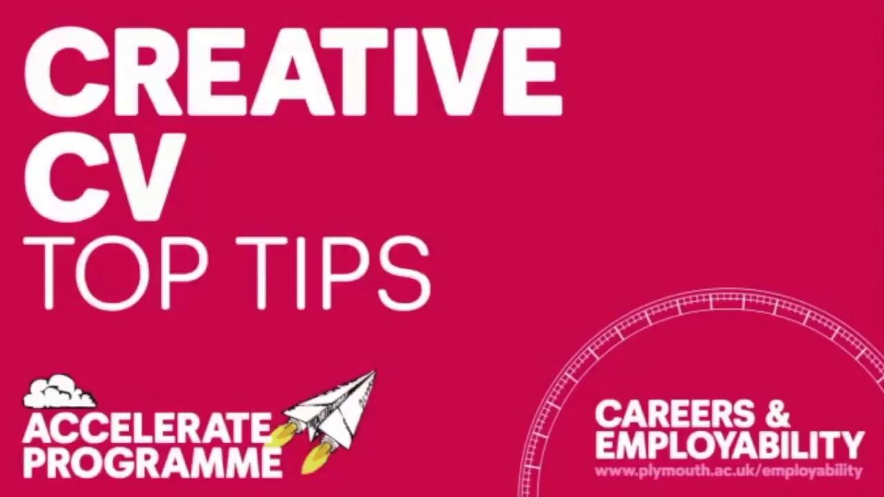 Creative Cv Top Tips Youtube