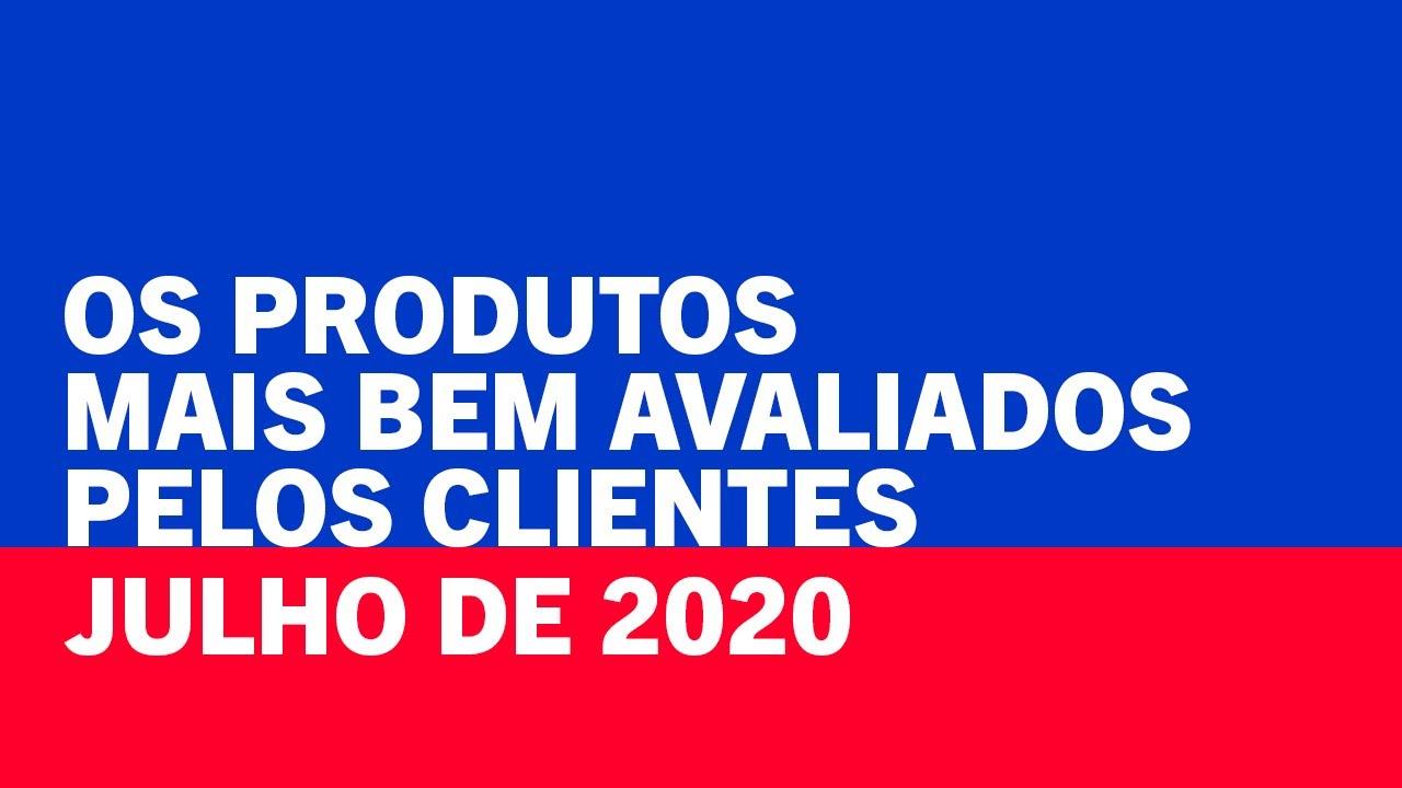 EM ALTA - Os 5 produtos mais bem avaliados na Casas Bahia   Julho 2020