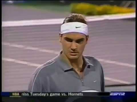 Agassi vs Federer Masters Cup 2003 round robin