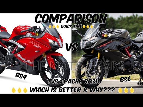 TVS APACHE RR310 BS4 Vs BS6 | QUICK COMPARISON | 🔥 Which Is Better 🔥 | The Moto Gears