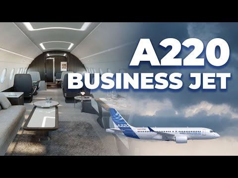 Airbus Reveals Stunning A220-100 Business Jet