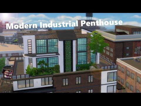 The Sims 4 Speed Build: Modern Industrial Penthouse