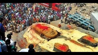 Tamil Nadu sends 64-feet long rock statue|| Massive Vishnu statue from TN to Bengaluru
