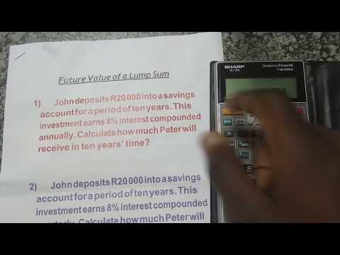 Future Value of a Lump Sum (Single amount) | Financial Calculator (Sharp EL-738)