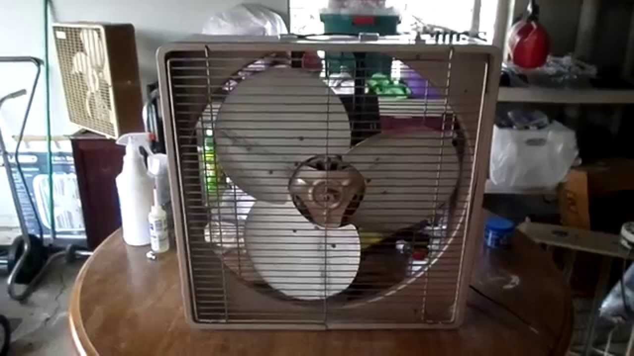 1960s Box Fan : S fresh nd aire by cory  box fan model youtube