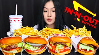 In N Out Animal Style Hamburgers and Fries MUKBANG