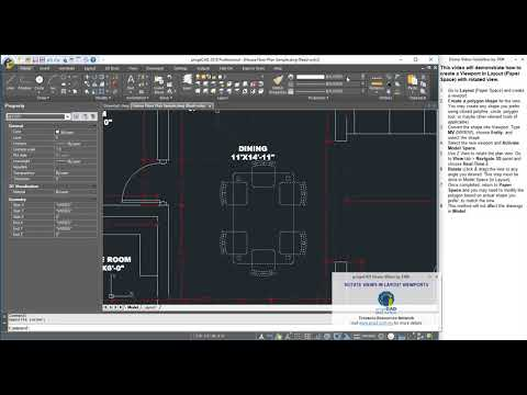 progeCAD | Rotate Viewport in Layout