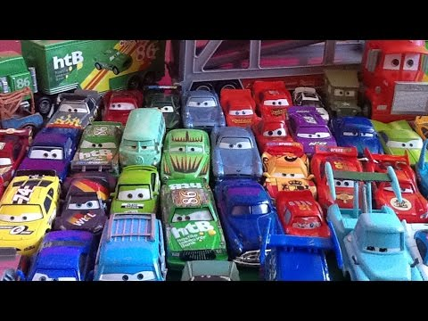 Disney Cars toys diecast collection Biler 2 Mack Transporter Lightning McQueen Tow Mater