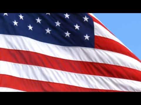 [10 Hours] 4th of July | U.S. Flag in Blue Sky w High Wind - Video & Audio [1080HD] SlowTV