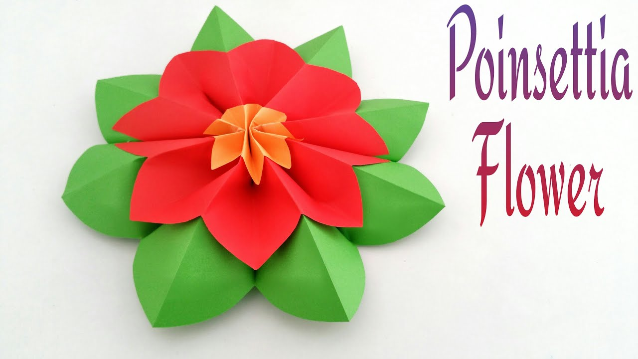 How To Make A Beautiful Poinsettia Flower Origamicraft