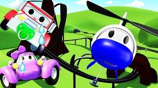 Patrol Policyjny wóz strażacki i radiowózi Niebezpieczny RollerCoaster | Samochody bajki dla dzieci
